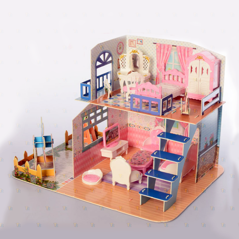 Image of DIY Miniature Wooden Doll House - TZP1