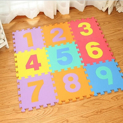 Activity Puzzle Playmats Numbers (10 pcs)