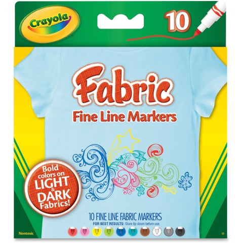 Crayola Bright Fabric Markers-588626