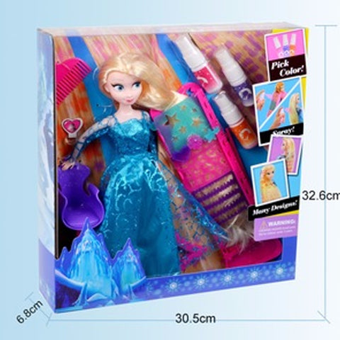 Disney Frozen Doll With Hair Spray and Accessories