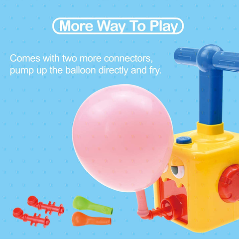 Air Powered Hand Push Balloon Car