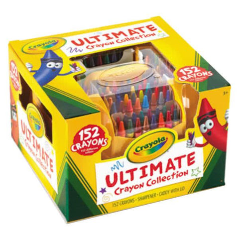 Image of Crayola Ultimate Assorted 152 Color Crayon Box with Sharpener Caddy