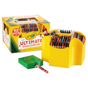 Crayola Ultimate Assorted 152 Color Crayon Box with Sharpener Caddy-520030