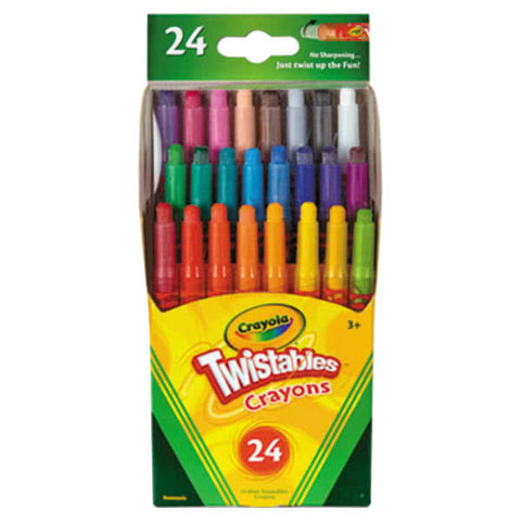 Image of  Crayola Assorted 24 Color Twistable Mini Size Crayon Box-529724