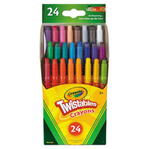 Crayola Assorted 24 Color Twistable Mini Size Crayon Box-529724
