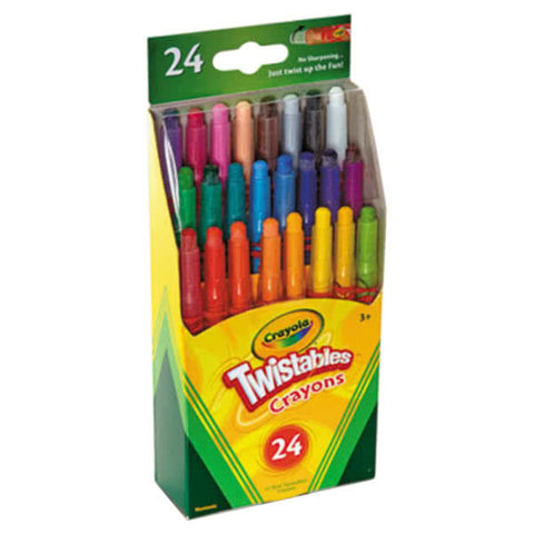 Image of Crayola Assorted 24 Color Twistable Mini Size Crayon Box