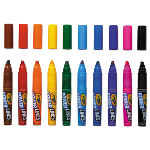 Image of Crayola Powerlines Assorted 10 Color Scented Marker Set
