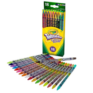 Crayola Twistable Colored Pencils, 18 Count