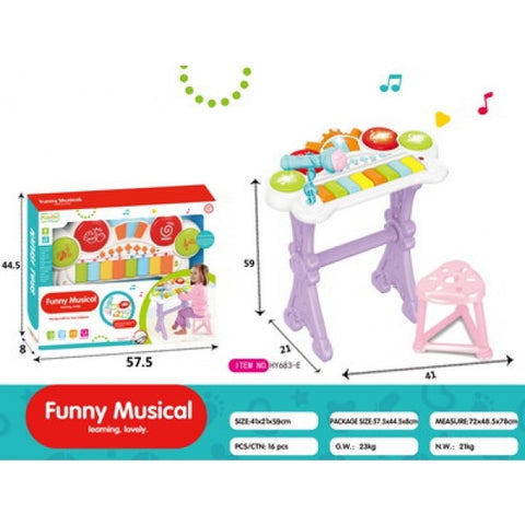 Kids Electronic Piano Toy Organ Light Keyboard