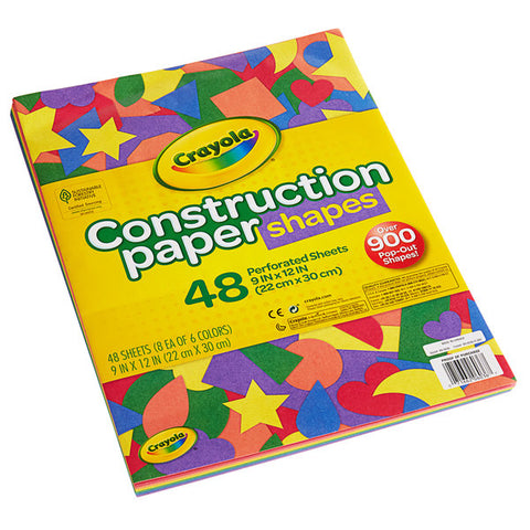 Crayola Assorted Color Construction Paper Shapes
