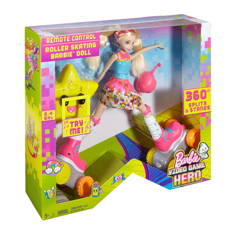 Image of Barbie Video Game Hero Remote Control Roller Skating Doll