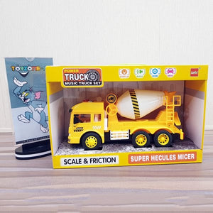 Friction Super Heclues Mixer Truck With Light & Sound- yellow truck
