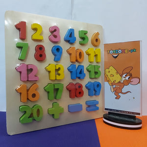 Wooden Learning Board (Alphabet & Numbers) - STO