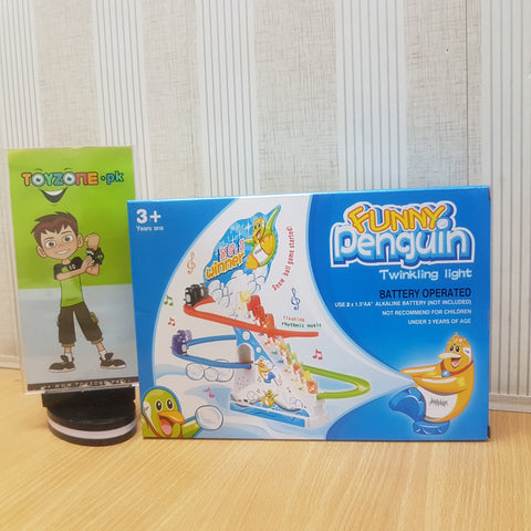 Image of Funny Penguin Track Set with Lights & Sound - TZP1