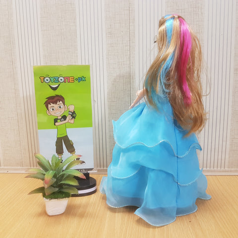 Image of Designer Dress up Colored Hairs Doll - TZP1