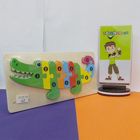 Wooden Peg Puzzles With Numbers and Animals