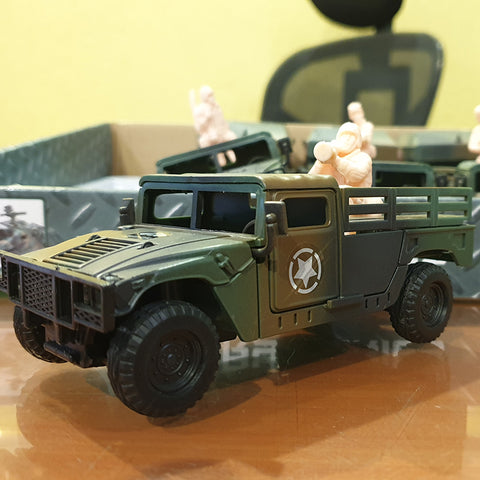 Army Truck With Soldiers