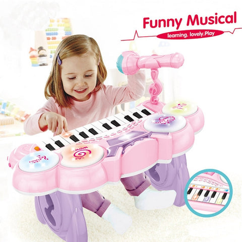 Funny Musical Piano With Microphone-HY679-E