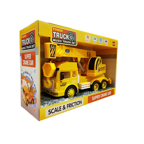 Friction Super Crane Truck With Light and Sound