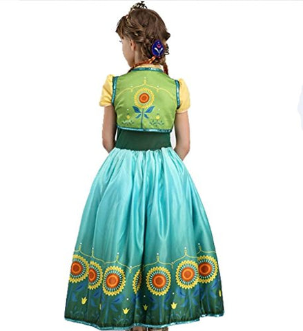 Image of Frozen Anna Costume - Green