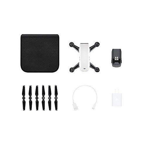 DJI Spark Fly More Combo Quadcopter Drone (Alpine White)