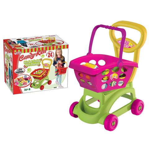 DEDE Barbie Shopping Trolley with Basket