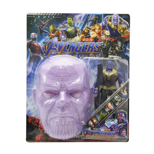 Avengers Thanos Mask With Action Figure