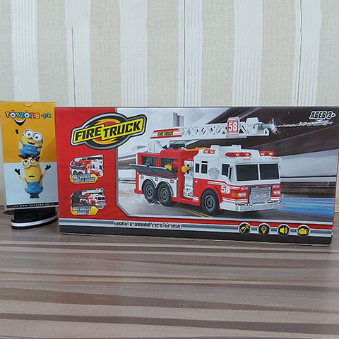 Fire Truck With Water Spray Effect