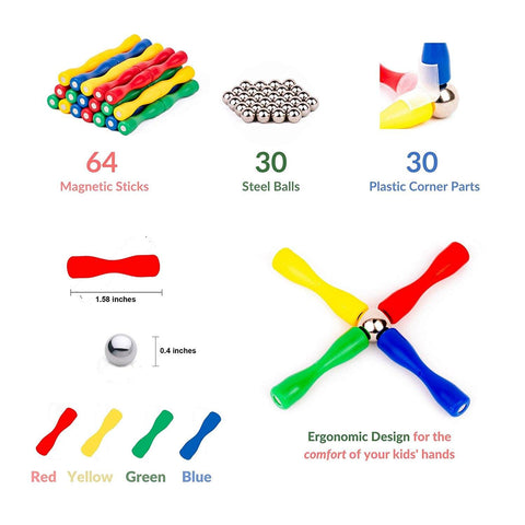 Image of 3D Master Magnetic Construction Sticks