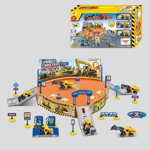 Construction Playset With Construction Vehichles