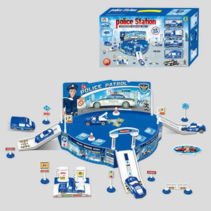Police Station Playset With Police Vehichles