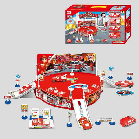 Fire Extinguishing Vehicles Playset