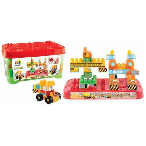 Image of Dede Brio Blocks Construction Set 55 Pieces-3329