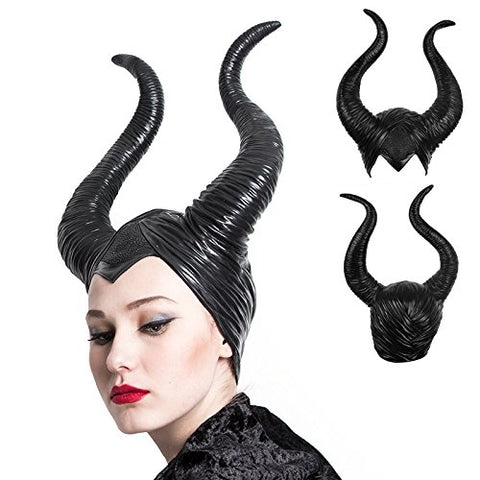 Halloween Black Queen Horns