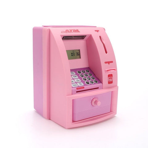 Image of Electronic Digital ATM Machine With Card