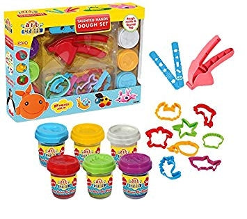 Image of Dede - Art Craft Talented Hands Dough Set 17 Pieces, 336 g -YT-3289