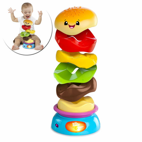 Image of Bright Starts Stack 'n Spin Gourmet Burger