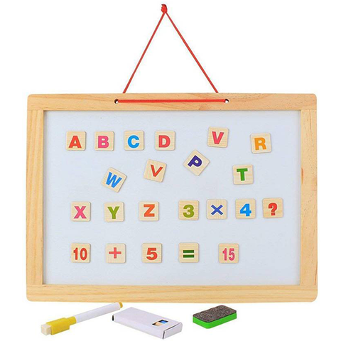 Image of Wooden Black & White Board 2in1
