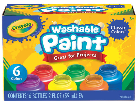 Crayola Washable Paint Set, 6-Piece