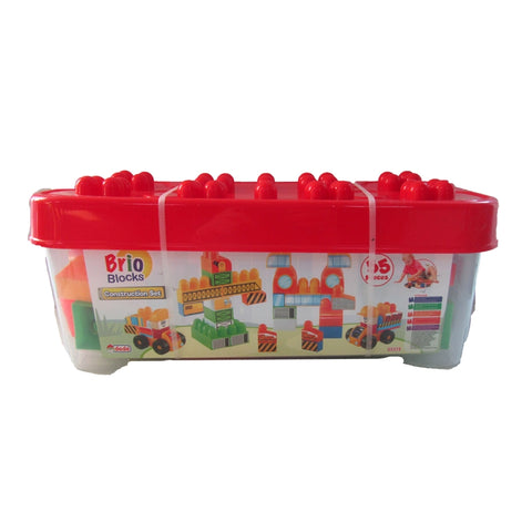 Image of Dede Brio Blocks Construction Set 55 Pieces