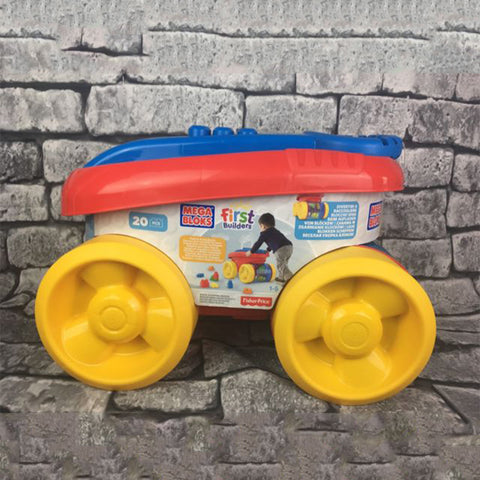 Mega Bloks Block Scooping Wagon Building Set