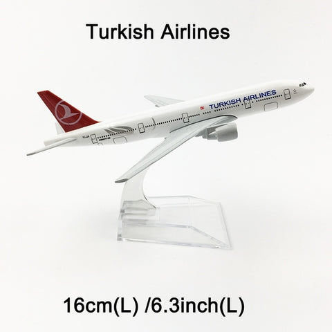 Image of Metal Airplane - Turkish Airlines Boeing 777