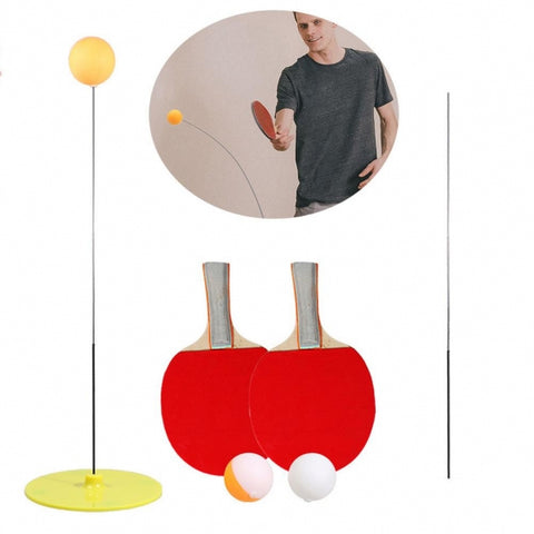 Table Tennis Trainer with Elastic Soft Shaft Portable Ping Pong Balls