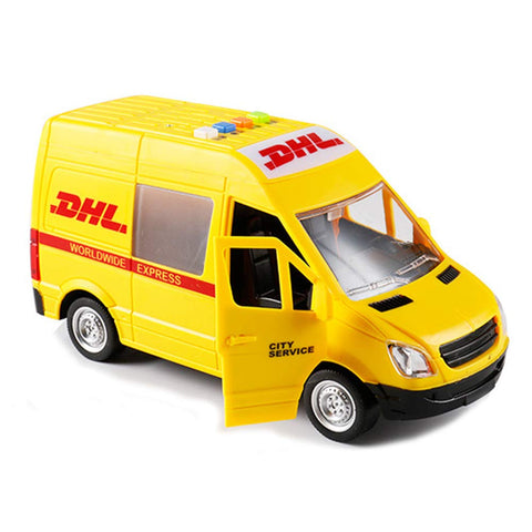 Friction Powered DHL Courier Van with Lights and Sounds 1:16 Scale