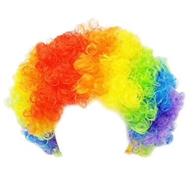 Halloween Rainbow Clown Wig