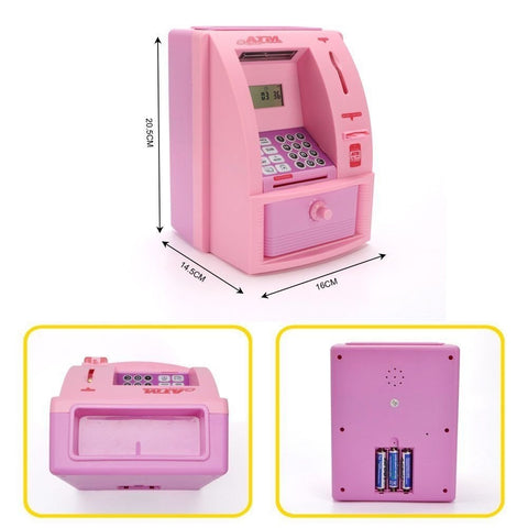 Electronic Digital ATM Machine With Card