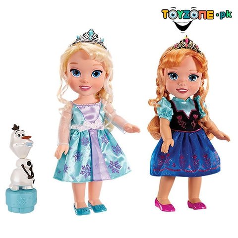 Disney Frozen Deluxe Elsa Anna Toddler Doll Set With Olaf Princess-31017