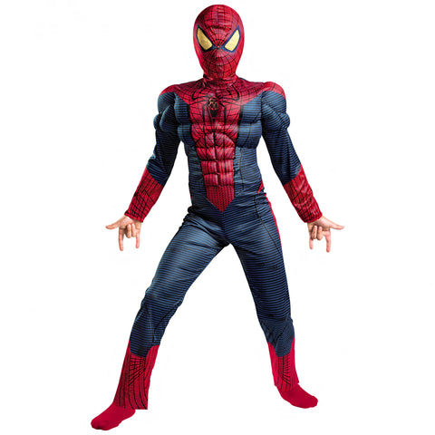 Image of BOYS DELUXE SPIDER-MAN COSTUME-SPM-COSTUME