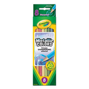 Crayola Metallic Colored Pencils, 8 Count-683708