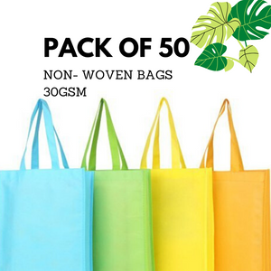 Non Woven Bag-Pack of 50 (30GSM)